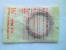 """SWAN Type Electric Kettle sealing washers - 1 9/16"""" fibre & rubber Ring- NOS - H"""