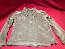PCU Level 3 Long Sleeve Top 1/4 Zip Pull Over Fleece size Large Coyote Brown