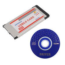 Super-Speed Express Card ExpressCard 34mm Dual 2 Ports USB 3.0 Adapter Card