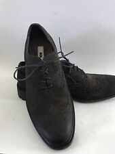 Joseph Abboud Mens Wingtip Oxfords Brown Size 10 Suede Brouged Lace Up Shoes