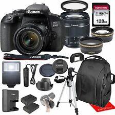Canon EOS 800D / Rebel T7i w/Canon EF-S 18-55mm F/4-5.6 is STM Zoom Lens & Profe