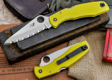 Spyderco Pacific Salt Pocket Folding Knife Serrated H1 Steel Blade FRN Handle