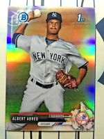 Albert Abreu 2017 Bowman Chrome Prospects Refractor #BCP153 #/499 NY Yankees