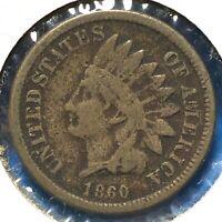 1860 1C Indian Cent (60738)