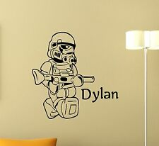 Personalized Stormtrooper Wall Decal Star Wars Custom Name Vinyl Sticker 103crt