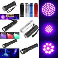 New Portable 9/12/21/51/100 LED UV Ultra Violet Mini Flashlight Torch Light Lamp