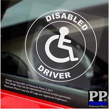 1x Driver disabili-CERCHIO, Furgone, Camion, Autobus Adesivo Finestra-segno disabilità, auto, badge