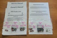 Marantz 3300 3250 3250b preamp rebuild restoration recap service kit fix repair