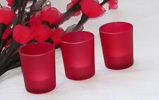 96 Red Glass Candle Holder Wedding Party Deco or Chinese New Year FREE tealight