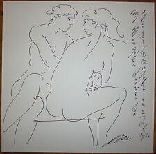 Hans Erni encre sur papier signée surréalisme artiste Suisse Genève Paris Sartre