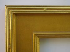 Custom Hand Made Wide Plein Air Gold Groove Carve Frame Any Size Up To 20X24