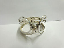 sterling silver bracelet by Sauteur Renoir lg hinged cuff wgt 64.8 grams sz 7.50