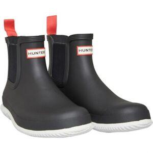 HUNTER Mens Chelsea Calendar Sole Boots | Black | Size 9