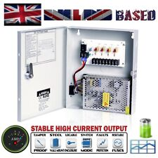 4 Way CCTV Security Camera Power Supply Unit - 12 VDC @ 5 A - Lockable Metal Box