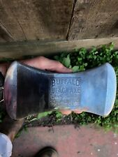 Embossed vintage Buffalo Black double bit axe head.