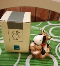 Thun collezione animali fattoria mucca mucchina con secchio statuina 7cm presepe
