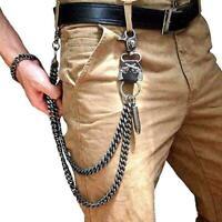 Strong Simple Twist Biker Trucker Keychain Key Jean Wallet Chain New M0S0