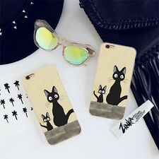 Stupid Black Cat Pattern Case Ultra Thin Soft TPU Cover Shell for iPhone 7Plus