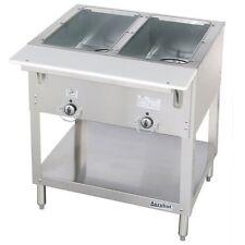 New 2 Well Lp Propane Steam Table Dry Bath Duke 302-Lp Commercial #5937 AeroHot