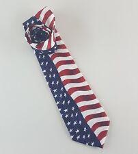 Steven Harris Men's Tie Red White Blue Stars Stripes Patriotic America Military