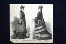 Figurino della moda - Abiti da passeggio Incisione del 1875