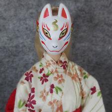 "NEW 1:6th White Fox Mask Veil Face Shield Model F12"" PH HT Male Female Doll"