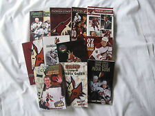 Boston Bruins Edmonton Oilers Coyotes MEDIA PRESS GUIDE program yearbook lot set