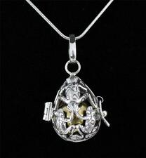 """Unusual Solid 925 Sterling Silver, Harmony Ball Pendant Necklace 18"""" + BOX"""