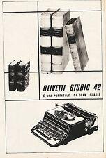 OLIVETTI STUDIO 42 IVREA MACCHINA DA SRIVERE PORTATILE CLASSE LIBRI 1939