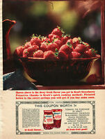 1963 Kraft Pure Strawberry Preserves Print Ad