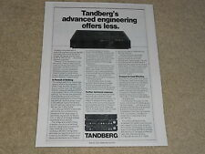 Tandberg 3006 A Power Amplifier Ad, 1984, Article, Rare Ad!
