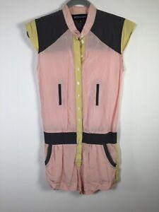Bettina Liano womens multicolour playsuit romper size 6 sleeveless good condt