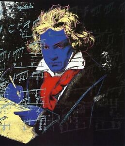 Beethoven lithograph, Andy Warhol. Classical POP Art. EXCLUSIVE gift Warhol Art