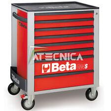 Carrello cassettiera mobile Beta C24S 8/R porta utensili 8 cassetti rosso