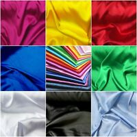 "Stretch Satin Fabric Poly Spandex Blend Bridal Party 60"" W Sold BTY Many Colors"