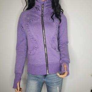 Lululemon Cuddle Up Sweatshirt Jacket Full-Zip Turtleneck Womens Size 6-8 Purple