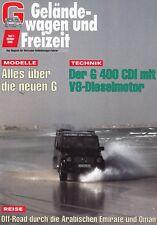 Mercedes G-modelo G-clase todoterreno ocio revista folleto 2000 49