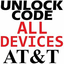ATT Samsung LG Nokia HTC Motorola ZTE Sony Asus Huawei Premium Unlock Code AT&T