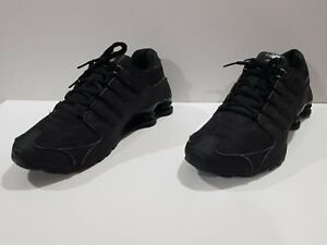 Nike ID Shox NZ Premium Men's Shoes Triple Black  626916 991  Sz 10.5