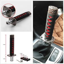 Universal Samurai Sword Gear Shift Knob Shifter Katana Metal Black+Red 15cm JDM