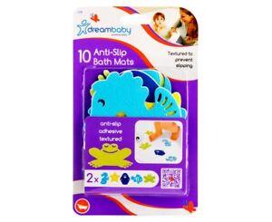 DreamBaby CHILD SAFETY Anti-Slip Adhesive Textured BATH MATS 10 Pack