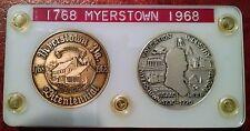 1768-1968 MYERSTOWN PENNSYLVANIA BICENTENNIAL SET OF SILVER & BRONZE MEDALS