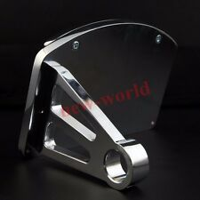 Chrome Motorcycle Side Mount License Plate Holder Bracket Brake Light For Bobber