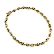 585 Gold Armband massiv Gliederarmband Bohnen mit Karabiner 14K Gold Bracelet