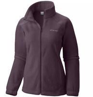Womens Columbia Benton Springs Full Zip Fleece Jacket Sweaters Dusty Purple XS