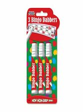 Bingo Markers Dabbers Pens Coloured Set Red ,Green , Blue Tickets(3 pack)-1162