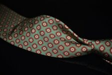 LNWOT #1 MENSWEAR Drakes Made in England Mint Green Hobnail Medallion Silk Tie