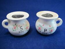 Original Vintage Salt and Pepper Shakers- Chamber Pot- Pots- Japan