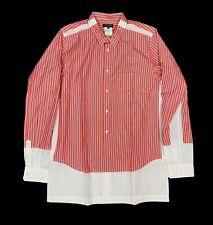 COMME DES GARCONS Long Sleeve Mens Button Homme Plus Cotton Red NEW