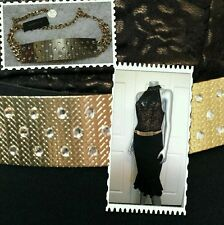 100% AUTHENTIC NWT BEBE STONES CHAIN GOLD BELT SIZE PS